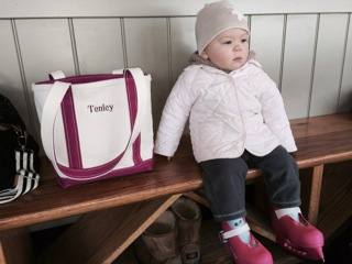 Tenley Jane Jones with her skate bag at the New Canaan Winter Club in Connecticut