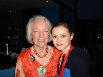 Tenley with Sasha Cohen