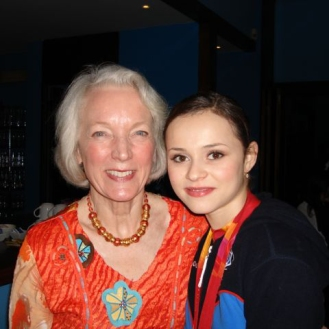 Tenley with Sasha Cohen